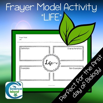 Frayer Model Activity on LIFE for Biology or Life Science by Science