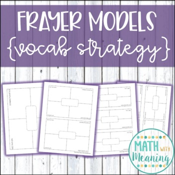 Frayer Model Template - Includes Fully Editable Version and 4
