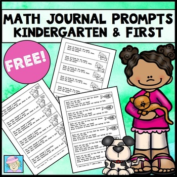 Math Journal Prompts for Kindergarten and First Grade FREE by