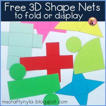 3D Shapes Free by Nyla\u0027s Crafty Teaching Teachers Pay Teachers