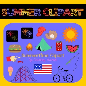 Summer Clipart for Commercial Use by Courtney Keimer TpT