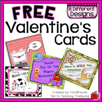 Free Valentine\u0027s Day Cards by TchrBrowne Teachers Pay Teachers