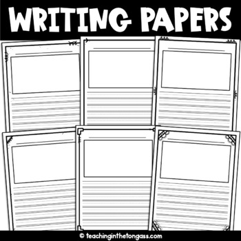 Lined Writing Paper with Picture Box FREE {Set One} by Teaching in
