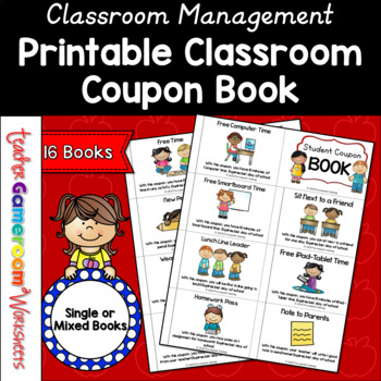 Reward Coupon Book by Teacher Gameroom Teachers Pay Teachers