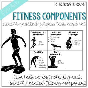 Freebie! Health-Related Fitness Component Task Card Set by The Sassy