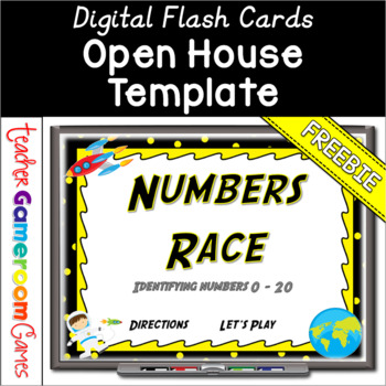 Freebie - Identifying Numbers 0 - 20 Flash Card Powerpoint by