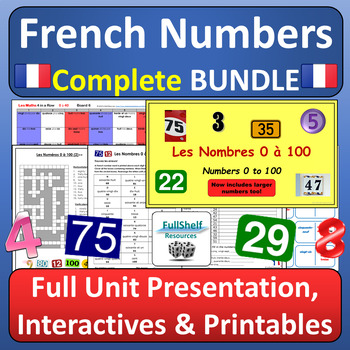 French Number Bingo Teaching Resources Teachers Pay Teachers