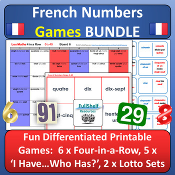 French Numbers 1-100 Worksheets  Teaching Resources TpT