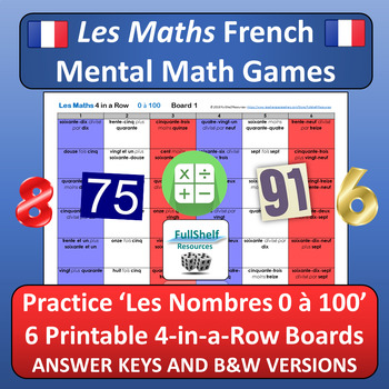 French Numbers 1-100 Games by FullShelf Resources TpT
