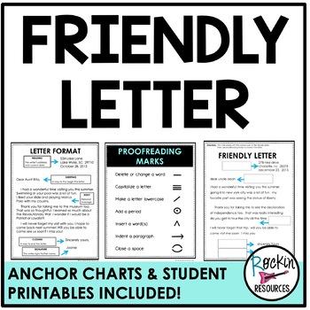 Friendly Letter Freebie by Rockin Resources Teachers Pay Teachers