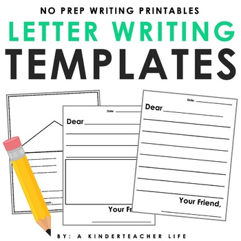 Friendly Letter Writing Paper by A Kinderteacher Life TpT