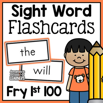 Fry First 100 Sight Word Flashcards - Free by Amanda\u0027s Little Learners