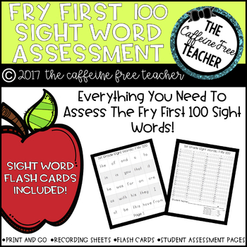 Fry First 100 Sight Word Rings And Assessment Kit By The