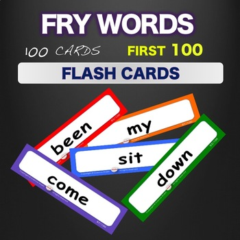 Fry Sight Words - Flash Cards - Words 1-100 by SCIENCEshakti TpT - flash cards words