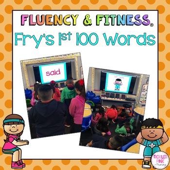 Fry\u0027s 1st 100 Sight Words Fluency  Fitness Brain Breaks TpT