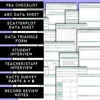 Functional Behavior Assessment Kit - Printable forms for an