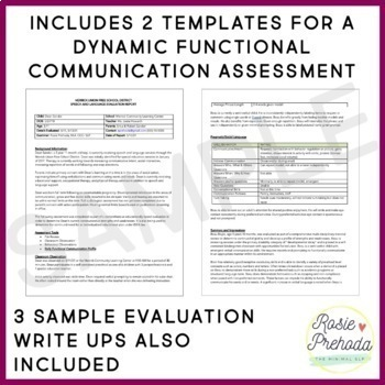 Functional Communication Speech Evaluation Report Template by Rosie - evaluation report