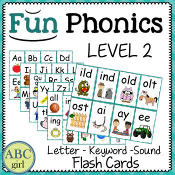 2nd Grade Fundationally FUN PHONICS Level 2 Letter-Keyword