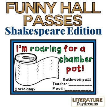 Hall Passes Middle School Worksheets  Teaching Resources TpT