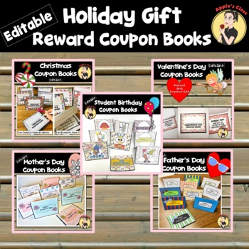 Gift Coupon Book Bundle by Apple\u0027s Class Teachers Pay Teachers
