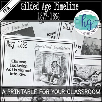 Gilded Age Timeline {A Printable for Your Classroom} by History Gal