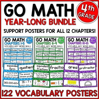Go Math 4th Grade Vocabulary for the Year Bundle by Shelly Rees TpT
