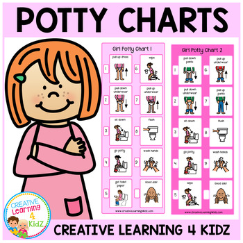 Going Potty (Girl) Visual Charts by Creative Learning 4 Kidz TpT