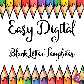 Blank Letter Template Worksheets  Teaching Resources TpT