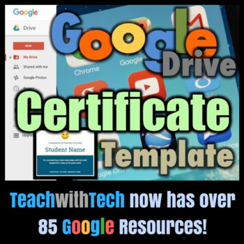 Google Drive Certificate Template Guide by Gavin Middleton TpT