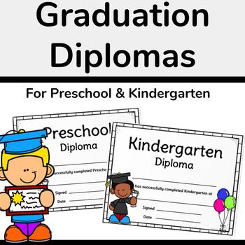 Graduation Diploma Certificates for Preschool and Kindergarten