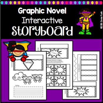Graphic Novel Interactive Lapbook Storyboard Book Report - Comic by