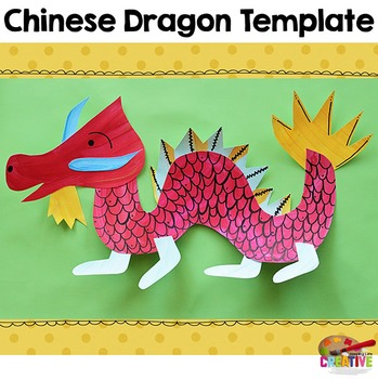 Chinese New Year Dragon Printable Craftivity Template by Keeping