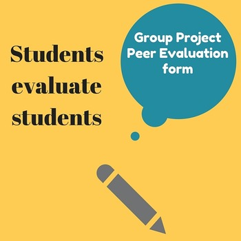 Group Project Peer Evaluation Form TpT