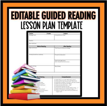 Guided Reading Lesson Plan Template by Teaching Early Learners TpT