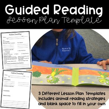 Guided Reading Lesson Plan Template Editable Teaching Resources