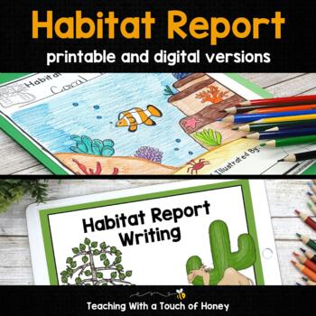 Habitat Research Project - Report Writing Templates TpT
