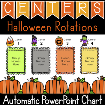 Halloween Centers (Automatic Center Rotation PowerPoint) TpT
