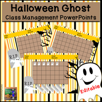 Halloween Ghost Classroom Behavior Management System *PowerPoints