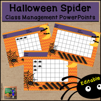 Halloween Spider Classroom Behavior Management System