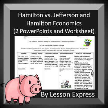 Hamilton V Jefferson Teaching Resources Teachers Pay Teachers