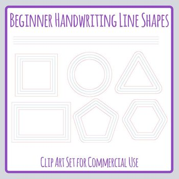 Handwriting Lines in Shapes for Creative Writing, Poetry