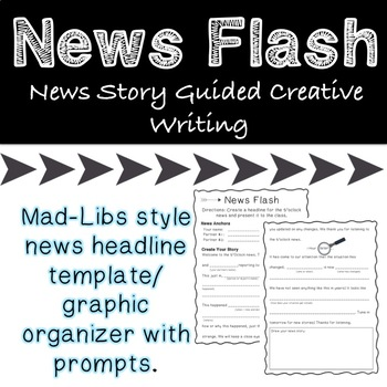 Headline News Guided Creative Story Writing *Great for Drama* TpT