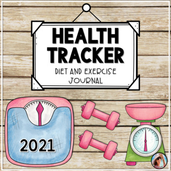 Health and Fitness Tracker with Diet and Exercise Journal by Carrie Lutz