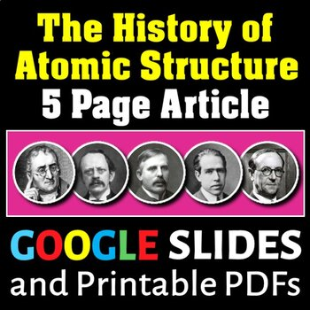 Atomic Structure  The History of Atomic Structure - Article and - atomic structure worksheet