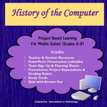 History of Computers - Group Research  Presentation Project TpT - Presentation Project