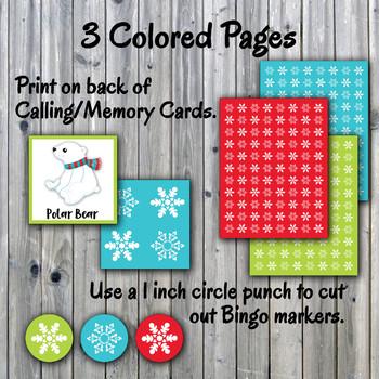 Holiday Bingo Cards and Memory Game - Christmas Bingo Printable - 30