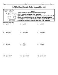 Holt Algebra Ch 3 Inequalities Worksheet Bundle (3 Tests ...