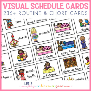 Home Visual Schedule/Routine/Chore Chart for Young Children by Heidi