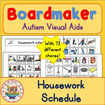 Housework Chores Schedule and 70 Symbols - Boardmaker Visual Aids - housework schedule