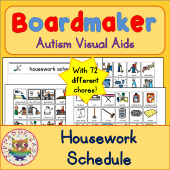 Housework Chores Schedule and 70 Symbols - Boardmaker Visual